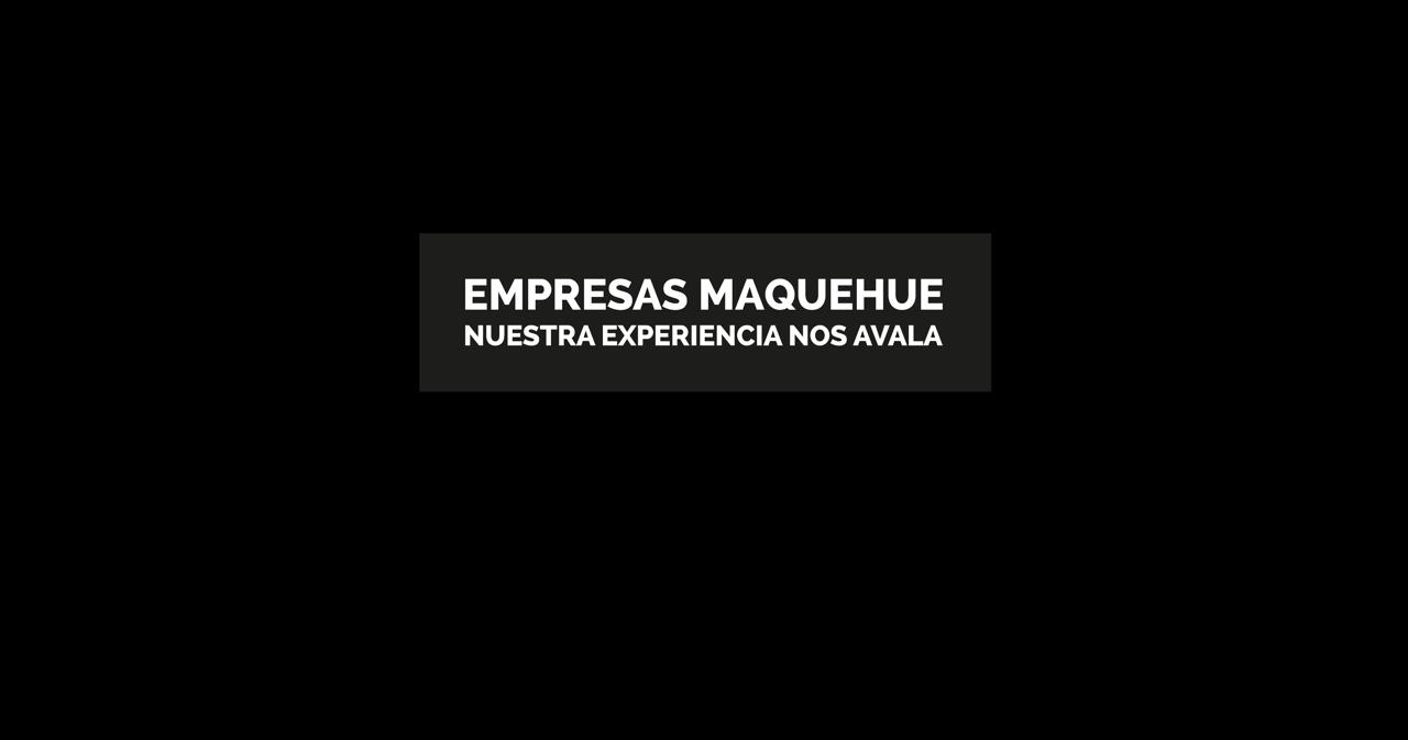 Maquehue banner holding | Empresas Maquehue